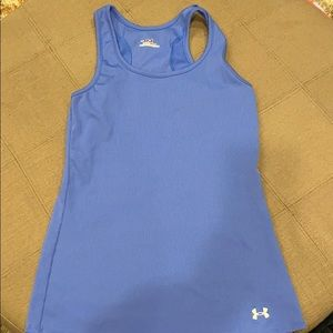 Under Armour ribbed blue tank top women's med